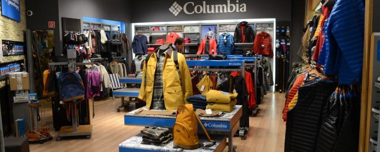 Columbia márkabolt